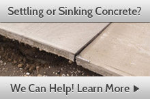We offer concrete lifting and leveling in South Carolina